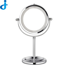 1PC Makeup Mirror With Light Led Compact Cosmetic Mirror Lady'S Double Sided 3Xmagnifying Miroir Espelho De Maquiagem SC133