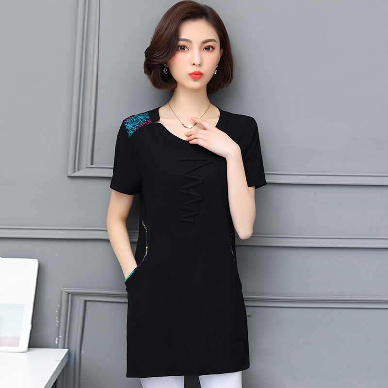 Nkandby Plus size Ladies Tops Summer Korean Women Clothing Slim Cotton Short sleeve 5XL 4XL Big size T shirt Regular Tees Female 46