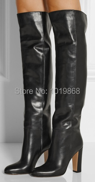 Dropship Top Quality Leather Thigh High Boots For Sale