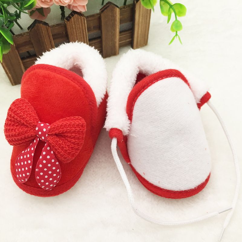 Newborn The First Walker Infant Lovely Winter Baby Boys Girls Warm Plush Boot Soft Bootie Crib Shoes