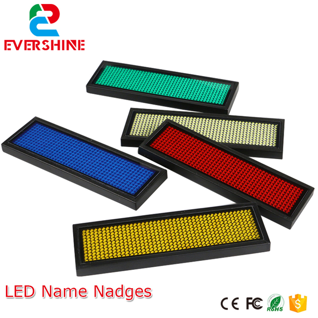 1144 dots red color led name badgesled name tag led sign 1144 dots red color led name badgesled name tag led sign scrolling colourmoves