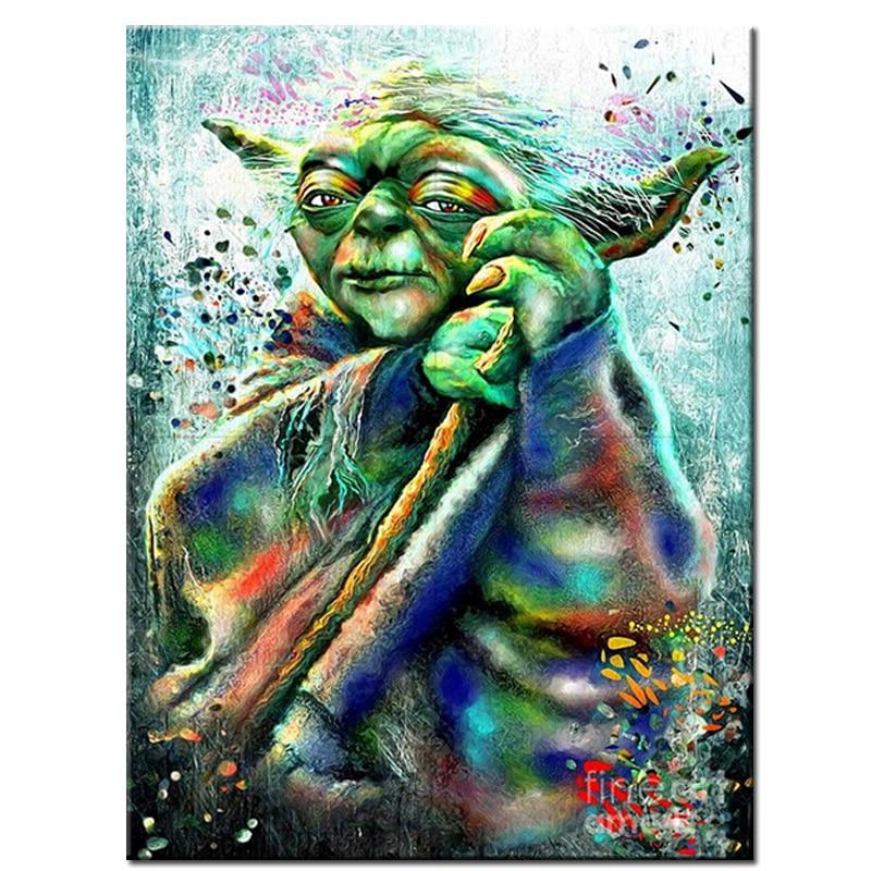New 5D Resin Diamond Painting Star Wars Yoda Cross Stitch Embroidery Mosaic Picture Rhinestones Craft Needlework home decor