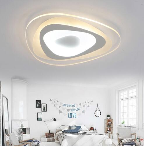 15 Ultra Modern Ceiling Designs For Your Master Bedroom: Ultra Thin Surface Mounted Triangle Modern Led Ceiling
