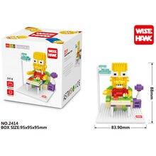 WISE HAWK Abraham Simpson blocks ego legoe star wars duplo lepin toys playmobil castle starwars orbeez figure doll car brick