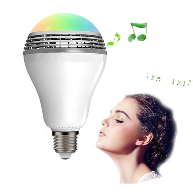Mini speaker portátil bluetooth alto-falantes estéreo sem fio levou lâmpada inteligente amplificadores de música luz matiz auto para iphone 5 6 7 andriod