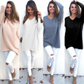 2016 Autumn Winter Fashion Women Long Sleeve Knitting Sweater Women Knitted Casual Sweaters and Pullovers Female Loose Tops
