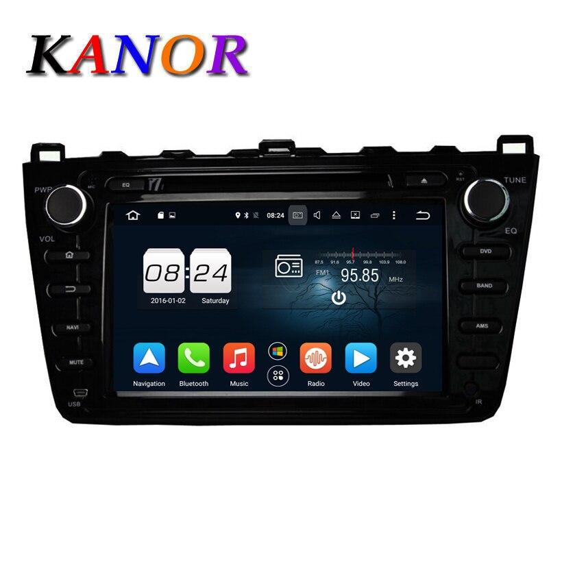 imágenes para KANOR Octa Core Android 6.0 2G GPS DVD Del Coche Para Mazda 6 Ruiyi Ultra 2008 2009 2010 2011 2012 Autoradio Multimedia de Audio estéreo