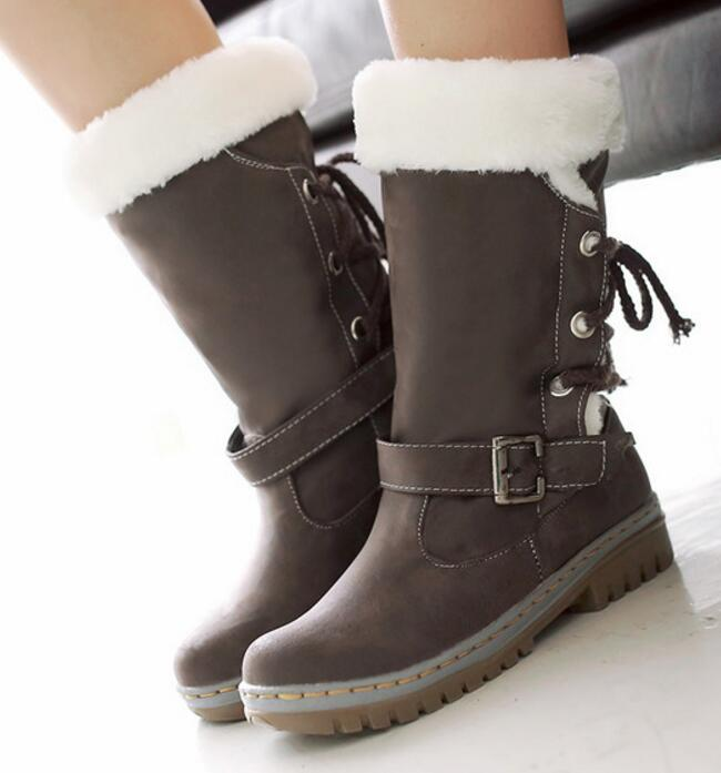Filles Hiver Casual Chaussure Chaussures Bottes G61256 Pour Green Dames Plate forme Black Taille Chaude Femmes yellow Martin beige army Neige Femme Plus Pompes Fourrure qFrrxEXnAw