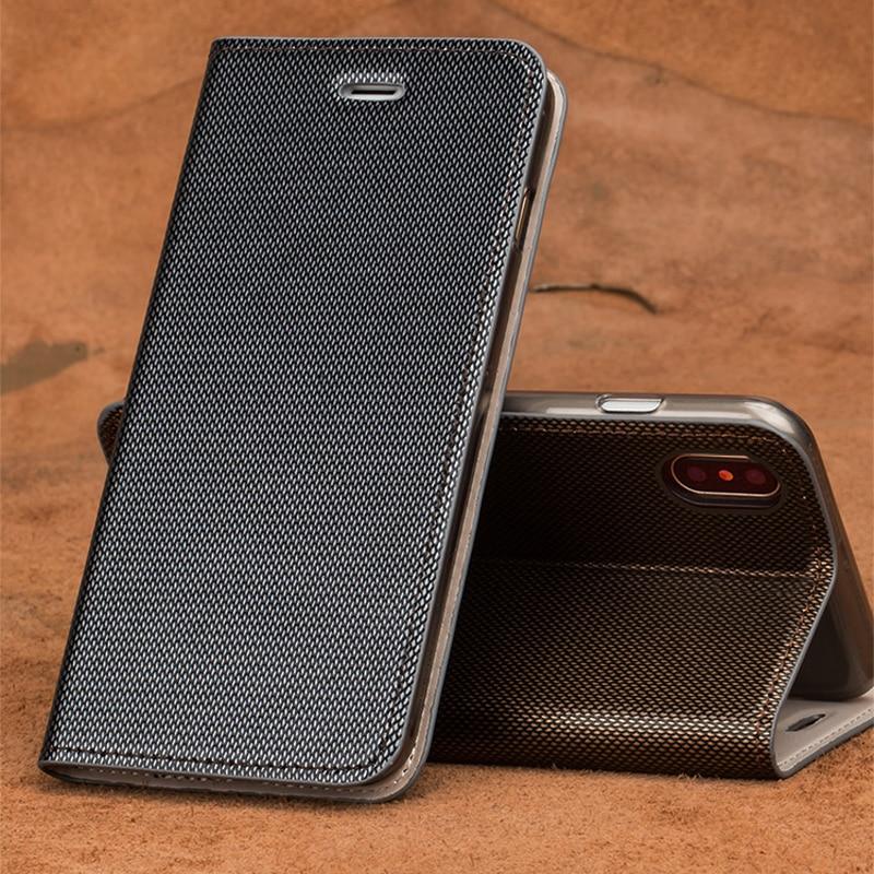 Wangcangli брендовый кожаный чехол для телефона с двумя линиями флип телефона для iPhone X ручной работы чехол для телефона
