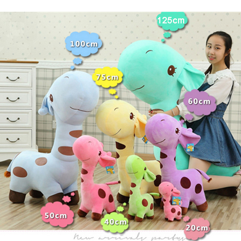 Fancytrader Giant Plush Giraffe Toy Huge Soft Stuffed Animals Giraffe Kids Sofa 125cm Could Load 80kg on the Back fancytrader new style giant plush stuffed kids toys lovely rubber duck 39 100cm yellow rubber duck free shipping ft90122