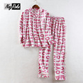 New spring fashion 100% brushed cotton simple lovely pajama sets women casual ladies homewear pijamas mujer unicorn pajamas