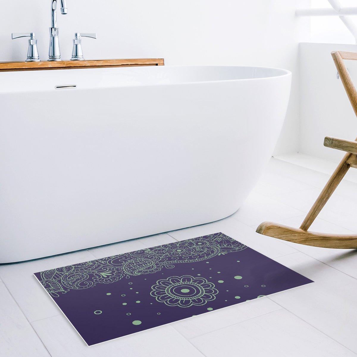 Vintage Mandala Flower Decortaive Door Mats Kitchen Floor Bath Entrance Rug Mat Absorbent Indoor Bathroom Decor Doormats