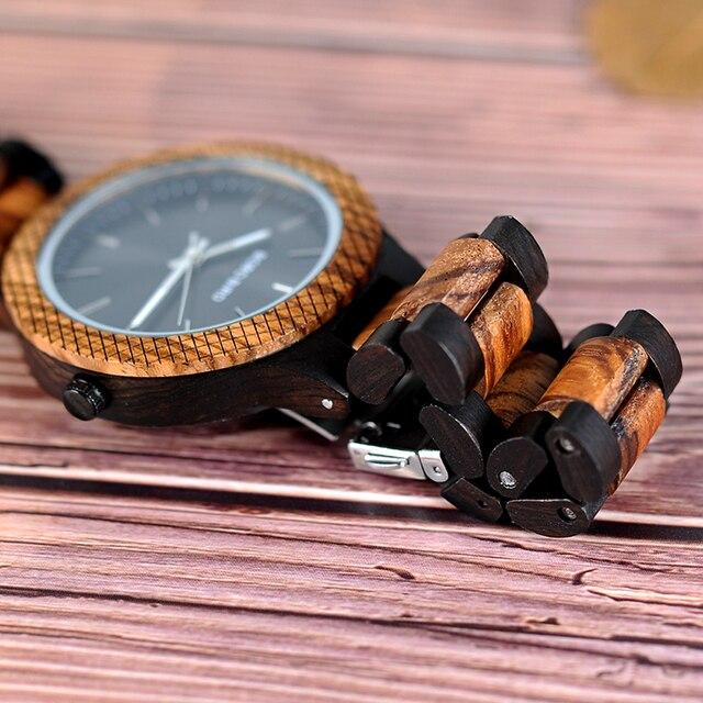 Reloj madera para hombre pulso madera 3