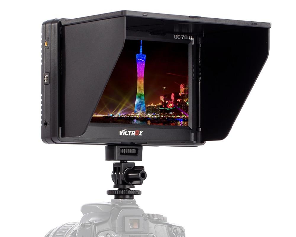 Viltrox DC-70II 7'' Clip-on TFT HD LCD 4K Camera Video Monitor Display HDMI AV Input for Canon Nikon DSLR BMPCC neewer nw759 7inch 1280x800 ips screen camera field monitor 1 mini hdmi bmpcc av cable for fpv 16 10 4 3 for sony canon nikon