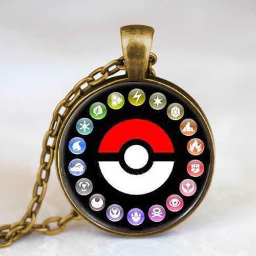 Pokemon pokeball ảnh trò chơi gamer antique brass pendant charm steampunk vòng cổ vòng cổ doctor 1 cái/lốc phụ nữ mens chuỗi cổ điển