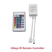Bande led avec télécommande sans fil pour SMD2835, 12V, 24 touches IR, boîtier de commande, variateur, pas de batterie