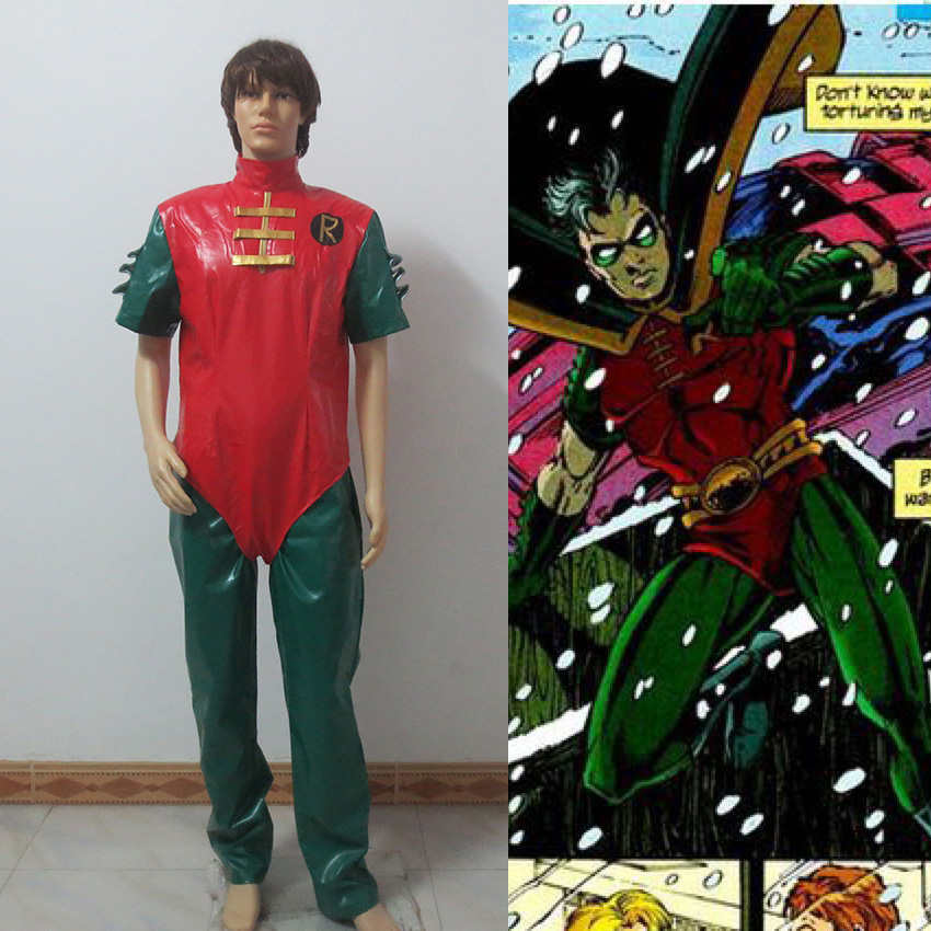 DC Batman Teen Titans Robin Superhero Cosplay Costume Custom Made Free Shipping