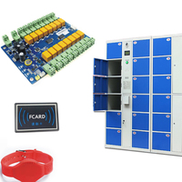 DC12V RFID 13.56MHZ avoid software storage lock Access Control Board Panel Controller for 16 Doors