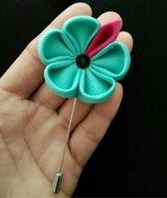 custom tiffany ribbon flower pins,wedding party favor,women men's lapel brooches