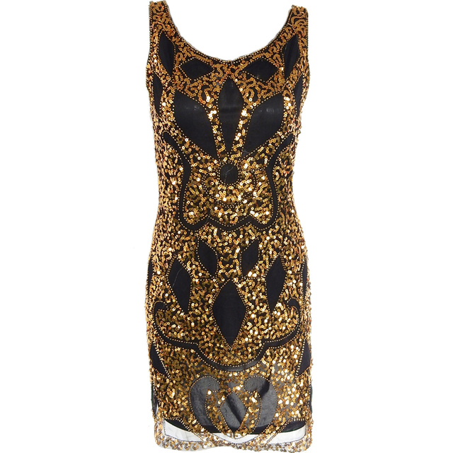 07a1f39e35d1d US $39.7 |Sexy Sequin Dress Women Evening Party Dresses Black Gold Vestidos  Bodycon Club wear Novelty Vintage Great Gatsby Woman Clothes-in Dresses ...