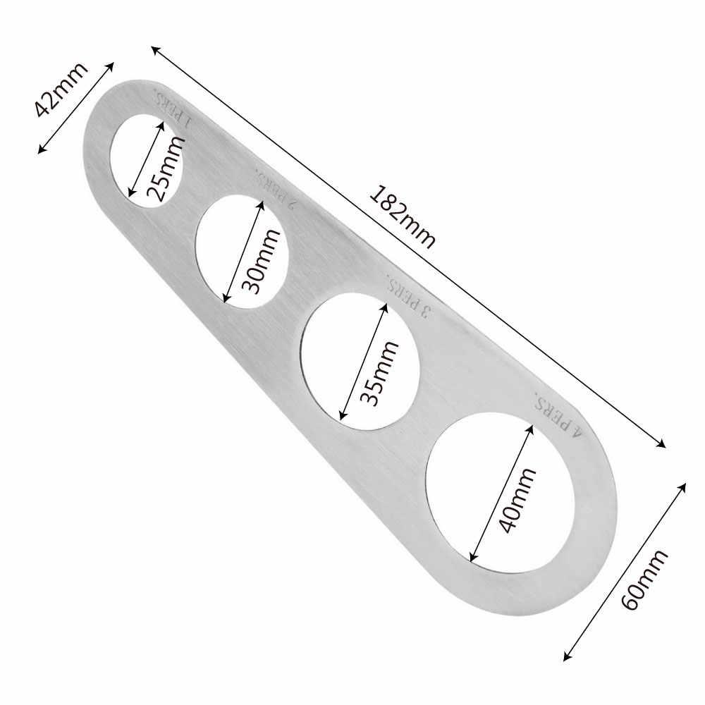 HILIFE 1 قطعة الفولاذ المقاوم للصدأ 4 ثقوب السباغيتي مقياس المعكرونة المعكرونة قياس أدوات قياس اكسسوارات المطبخ