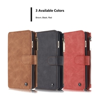 For Samsung S9 Plus Case Zipper Wallet Leather Phone Case For Samsung Galaxy S9 Plus Vintage Mobile Bag For Samsung S9 Plus