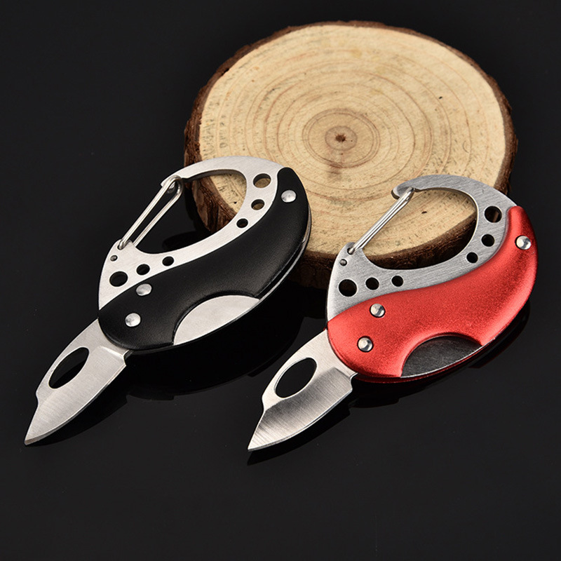 Portable Pocket Knife Folding Fold Hunting Camping Tactical Rescue Survival Keyring Keychain Mini Peeler Outdoor Survival Tool