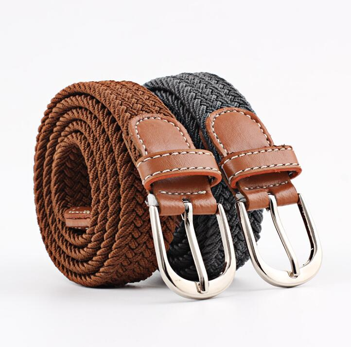 2018 new elastic   belt   knitted canvas jeans   Belts   & Cummerbunds decoration   belt   female pin buckle canvas strap women and man