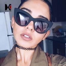 SHAUNA Classic Women Cat Eye Sunglasses Retro Ladies Black Frame Blue Reflective Lens Glasses
