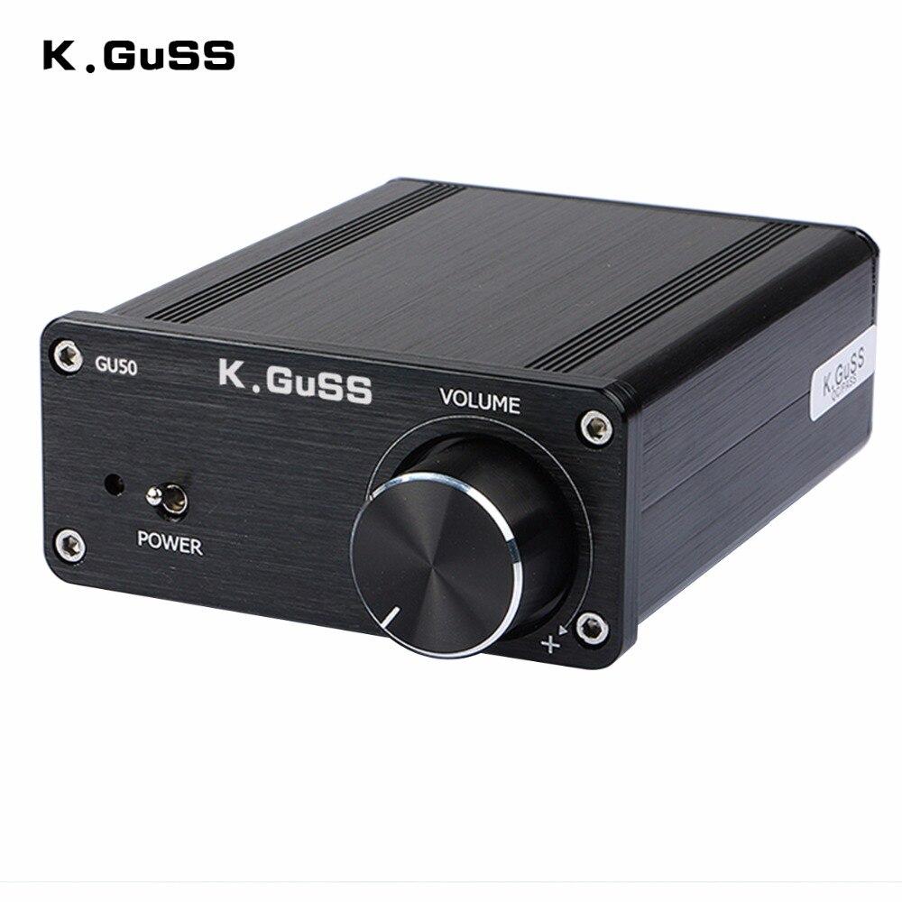 Neue K. guSS GU50 HIFI 2,0 klasse D TPA3116 Mini getragen audio power verstärker amplificador 2*50 w DC12V zu DC24V netzteil