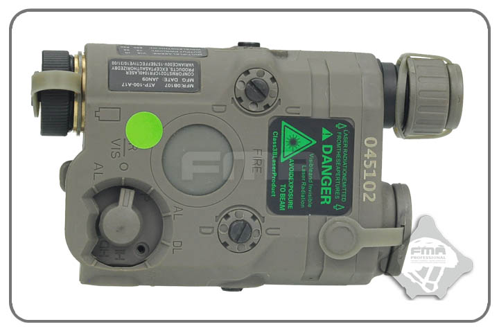TB FMA AN PEQ 15 Upgrade Version LED White Light Green Laser With IR Lenses Black