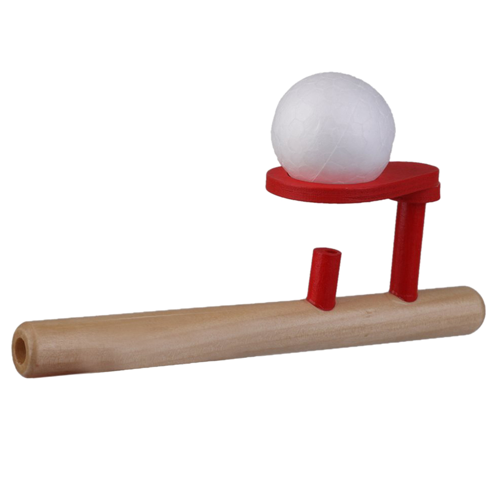 Classic Wooden Games Floating Ball Blow Tube & Balls Blows Toys