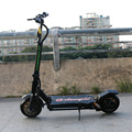 2017 kwheel obarter dupla unidade 1600 w motor scooter freio hidráulico 10 polegada e-scooter elétrico poderoso