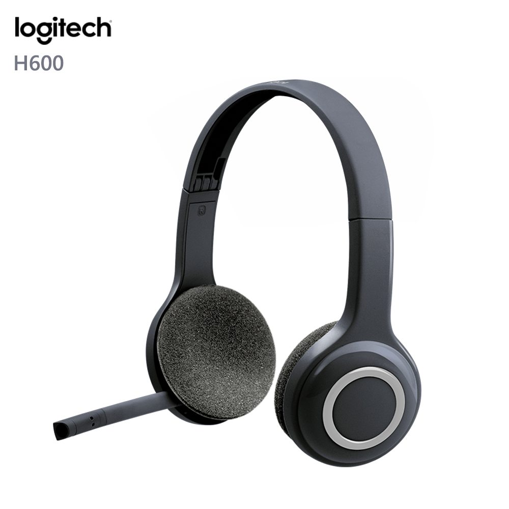 Original Logitech H600 Wireless Headphones with Microphone Portable Fordable HeadsetOriginal Logitech H600 Wireless Headphones with Microphone Portable Fordable Headset