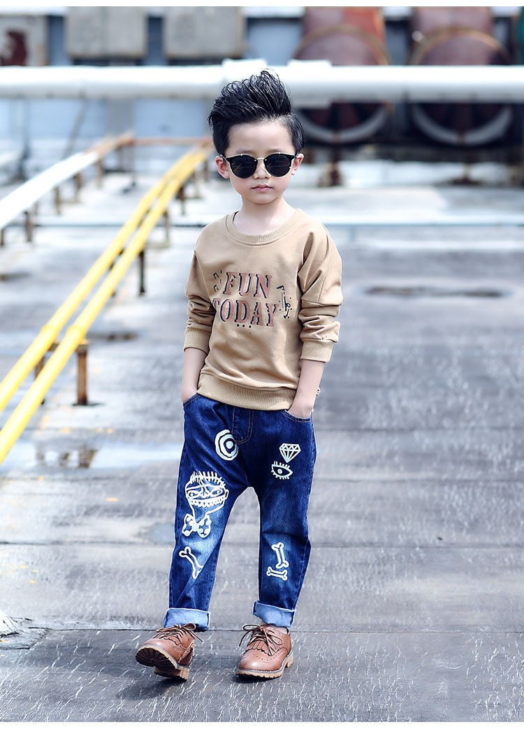high quality fashion 2017 children jeans for boys kids scrawl pattern denim pants clothing children baby little big boy jeans clothes 6 7 8 9 10 11 12 13 14 15 16 years old (16)