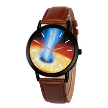 Casual Quartz Solar System Space Watch Leather Strap Astronomy Planets Unisex Classy Creative Analog Watches Relogio Feminino