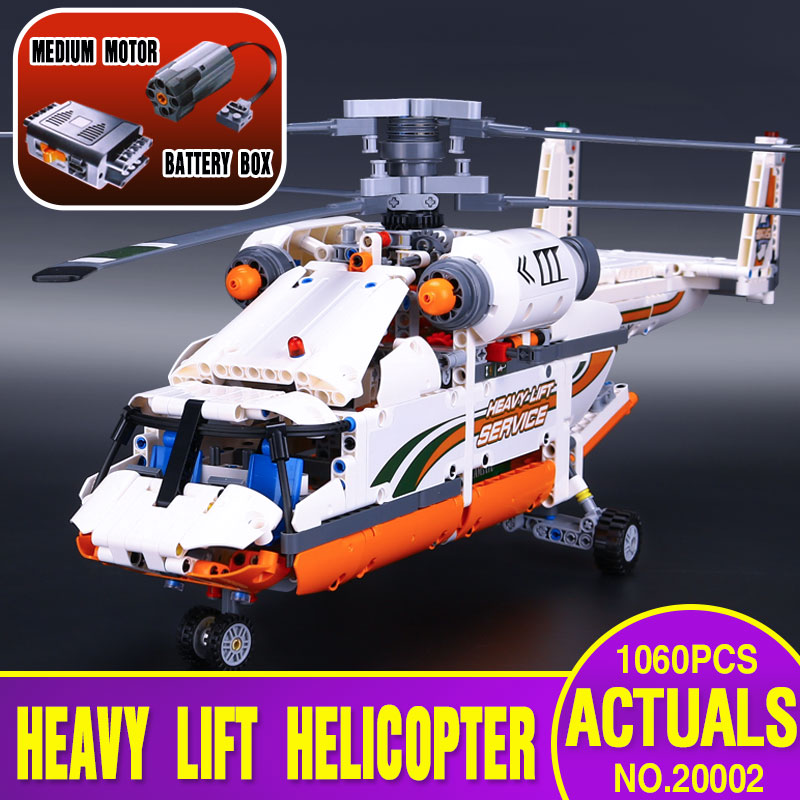 DHL 20002 technology series mechanical group high load helicopter blocks Compatible With 42052 Boy assembling Kids
