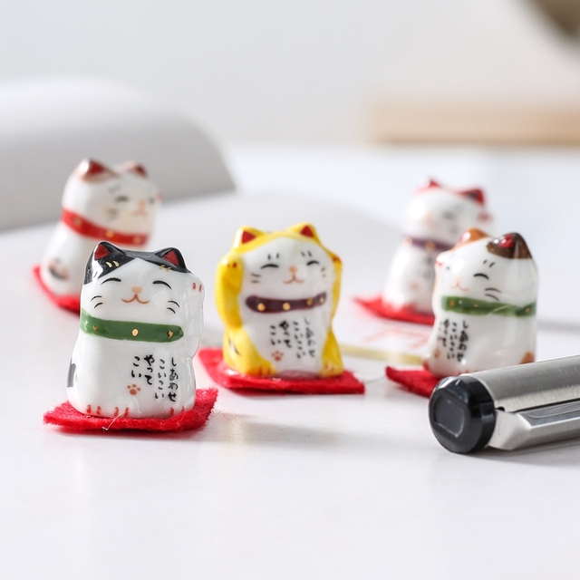 2019 Popular Cat Figurines Home Decoration Accessories for Table Office Lucky Wealth Ornaments Gifts Home Decoration with Gifts 1