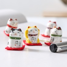 2019 Popular Cat Figurines Home Decoration Accessories for Table Office Lucky Wealth Ornaments Gifts Home Decoration with Gifts(China)