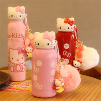 Cute Kitty Cartoon Thermos Cup Kawaii Japanese Animals Vacuum Flasks Stainless Steel Warm Thermos Vacuum Cute