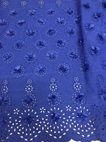 Frican laser cut Lace Fabric 3D Applique Embroidered Tulle Lace With Beads For Wedding Bridal Dress Tulle Lace Fabric