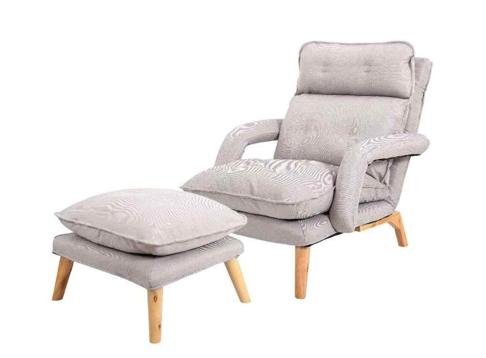 Individuele Luie Sofa Fauteuil Verstelbare Rugleuning Lounge Stoel Verwijderbare Wasbare Stof Bekleding Floor Couch Sofa Fauteuil