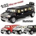 1:32 масштаб сплав металла модель автомобиля для hummer лимузин роскошный модель коллекции грузовик отступить детские игрушки автомобиля