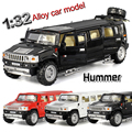 1:32 scale alloy metal car model for hummer limousine luxury truck collection model pull back children toys car