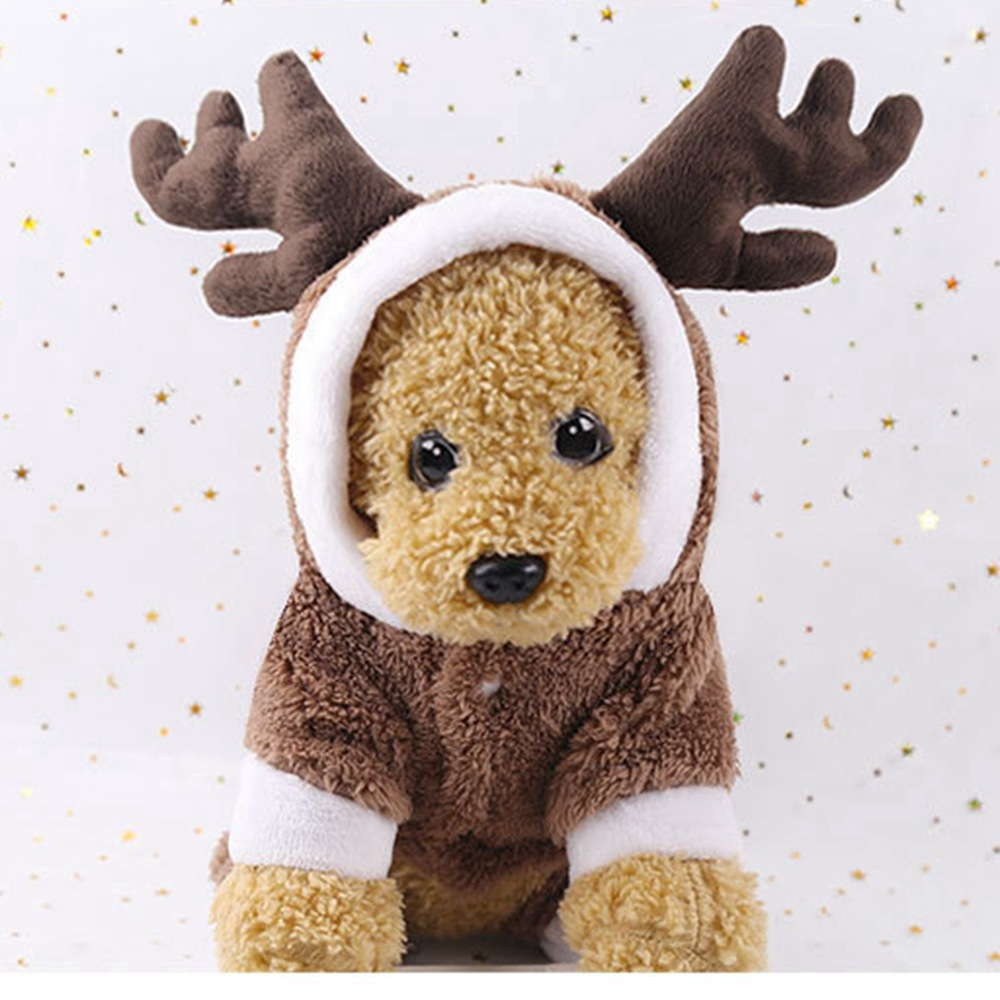 73a94d782639 Warm Winter Dog Clothes Pet Christmas Clothing Brown Puppy Dogs Jumpsuits  Cute Deer Four Legs Clothes for Cats Pet Dog Costumes-in Jumpsuits    Rompers from ...