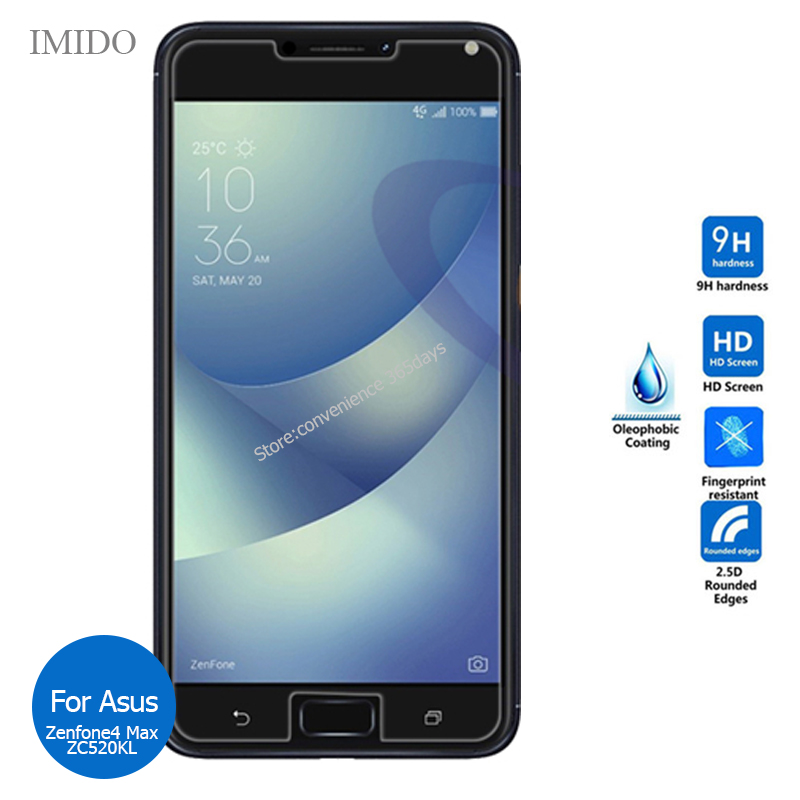 2PCS Tempered Glass For Asus Zenfone 4 Max ZC520KL Screen Protector 2.5 Safety Glass On <font><b>ZC520</b></font> <font><b>KL</b></font> ZC 520KL image