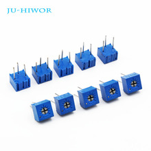 цена на 10pcs Potentiometer 3362P 1K-1M Ohm Trimming Potentiometer Variable Resistor 1K 2K 5K 10K 20K 50K 100K 200K 500K 1M Ohm