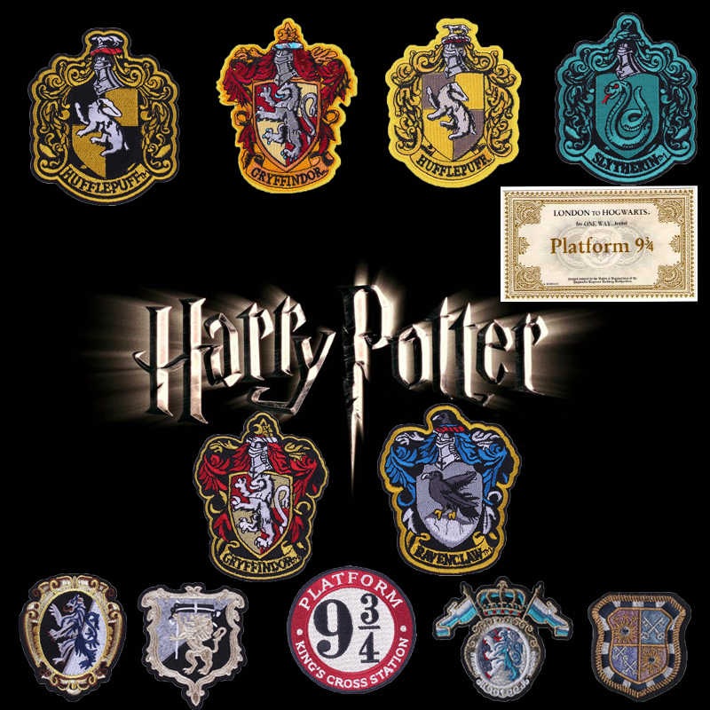 Prajna Magic Potter Badge Patches Iron On Cloth 3D DIY Embroidered Patch Apply To Clothing Accessories Hot Sale 9 3/4 Stickers H