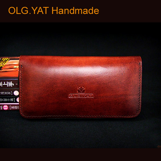 OLG.YAT handmade wallet mens purse long zipper handbag Italian vegetable tanned leather handbags cowhide wallets retro bags men original projector lamp bulb 311 8943 for 1510x