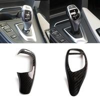 Real Carbon Fiber For BMW F20 F30 F31 F34 X5 F15 X6 F16 X3 F25 X4 F26 F10 Car Gear Shift Panel Frame Gear Knob Cover Head Trim